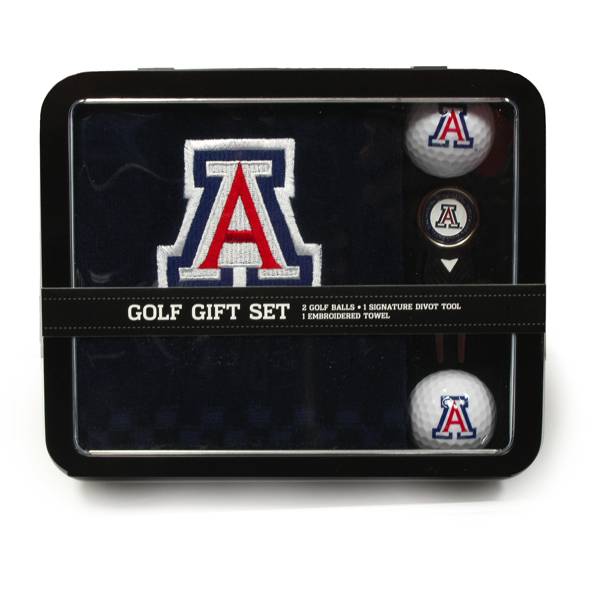 Arizona Embroidered Towel Tin Set