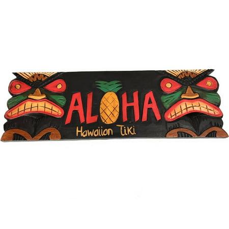 Aloha Tiki Sign (Tiki Bar Sign