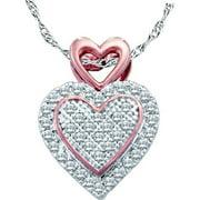 Gold and Diamonds PH2501-W 0.15CT-DIA HEART PENDANT- Size 7