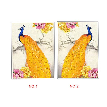 outdoorline DIY Full Drill Animal Crystal Painting Rhinestone Embroidery Diamond Hallway Needlework Picture Family Home Cross Stitch - image 2 of 9