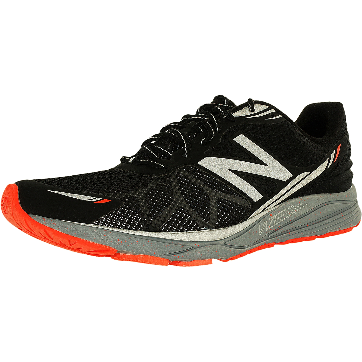 New Balance Men's Running Course Black Silver Electric Green Low Top Mesh Shoe 9.5M by New Balance