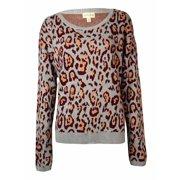 Maison Jules Women's Animal Pattern Knit Sweater