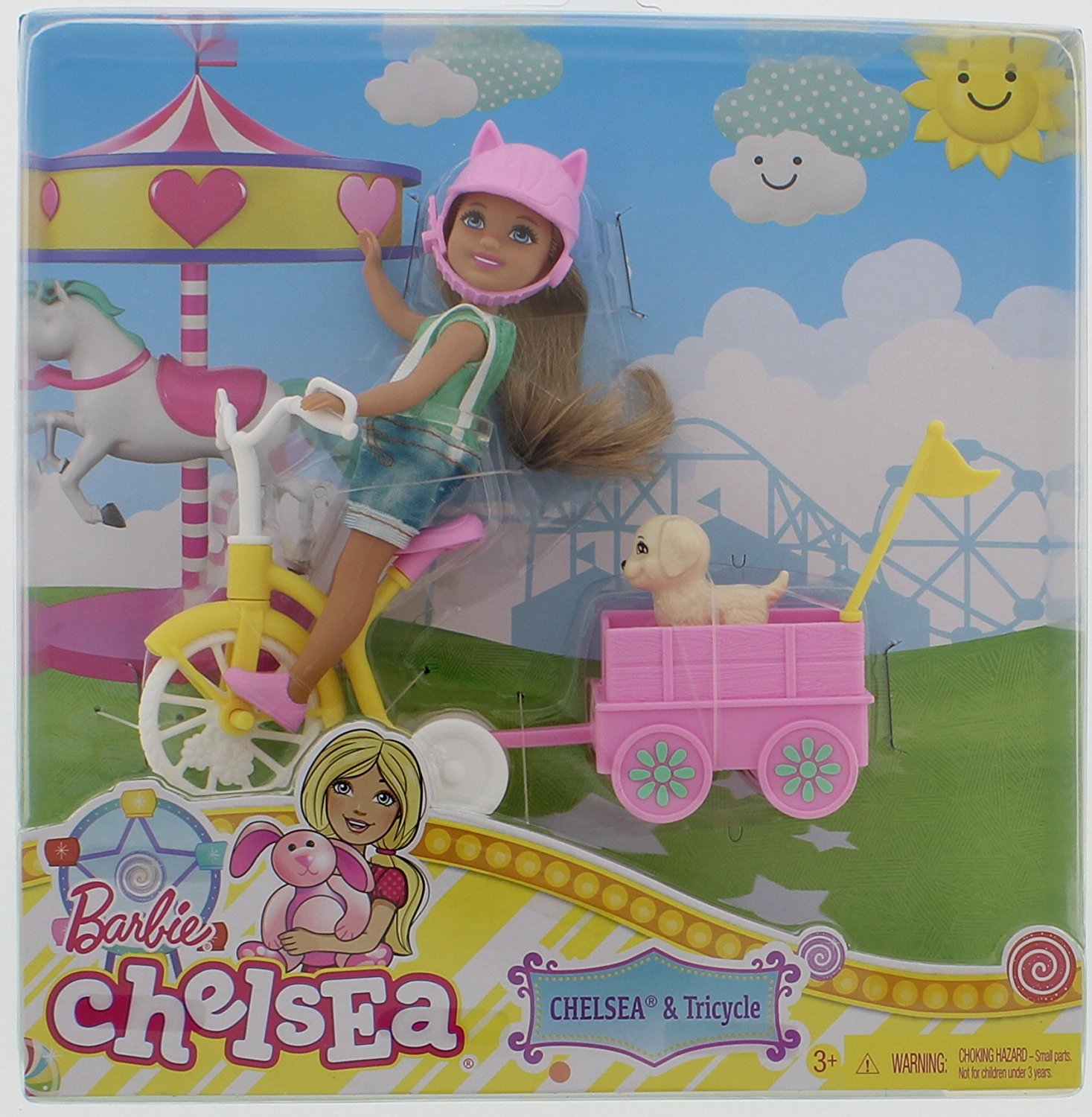 Barbie Chelsea with Pup & Tricycle