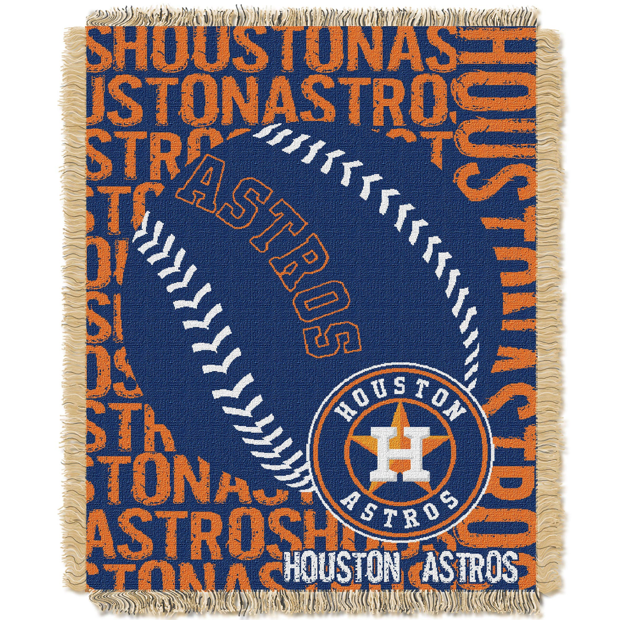 Houston Astros The Northwest Company 46'' x 60'' Double Play Jacquard Throw - No Size