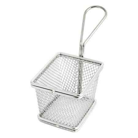 Coarse Mesh Culinary Basket (Stainless Steel Coarse Mesh Culinary Oil Sieve Strainers French Chips Fry Basket )