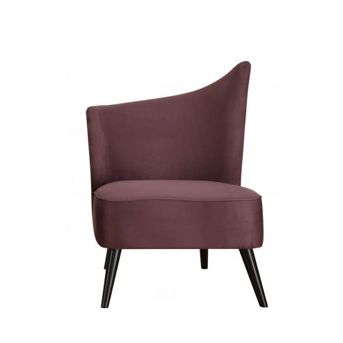Armen Living LC2132MFPULE Elegant Accent Chair With Flared Back (Left Side)  In Purple Microfiber
