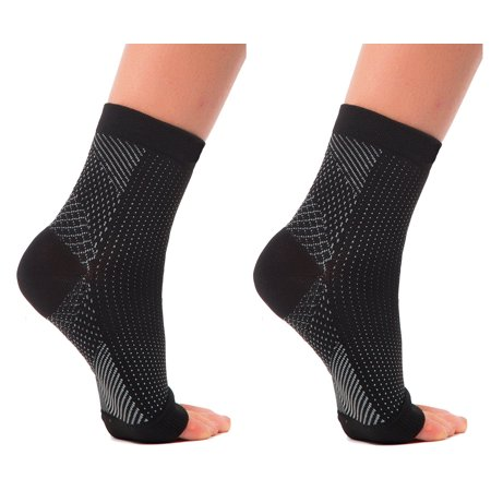 607554ae86 2 PAIR Plantar Fasciitis Sleeves Socks for Heel & Arch Pain, Graduated Compression  Sock for