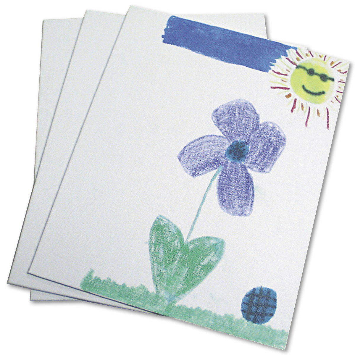 Chenille Kraft Canvas Panel, 9 x 12 x 1/8, White, 3/Pack