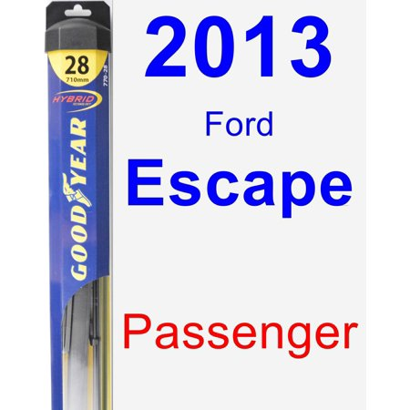 2013 Ford Escape Passenger Wiper Blade - Hybrid