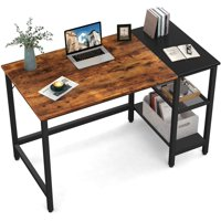 Deals on Erommy Industrial Computer Desk with Storage Shelves 47-inch