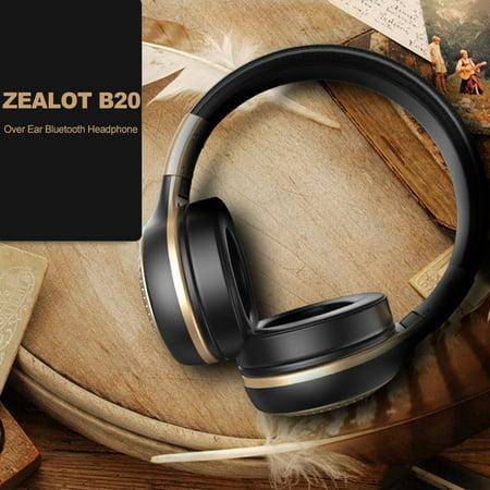 ZEALOT B20 Headphone Wireless Stereo Earphone Foldable Over Ear Headset 3.5mm AUX In Hands-free w/ Microphone - image 6 of 7