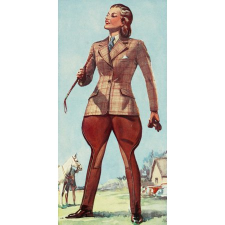 Stylish Riding Clothes by Caldene 1920 The Garland Poster Print by Unknown](1920 Clothes)