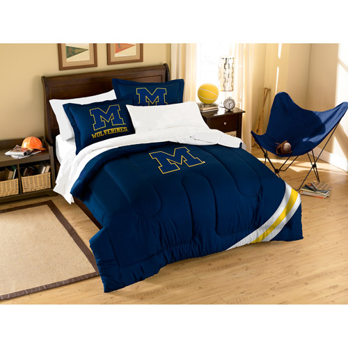 NCAA Applique 3-Piece Bedding Comforter Set, Michigan