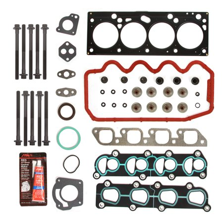 Ford Escort Vin (Evergreen HSHB8-20900 Head Gasket Set Head Bolts Fit 00-02 Ford Escort L4 121 Ci 2.0 SOHC 8V VIN)