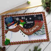 Let It Snow Personalized Oversized Doormat