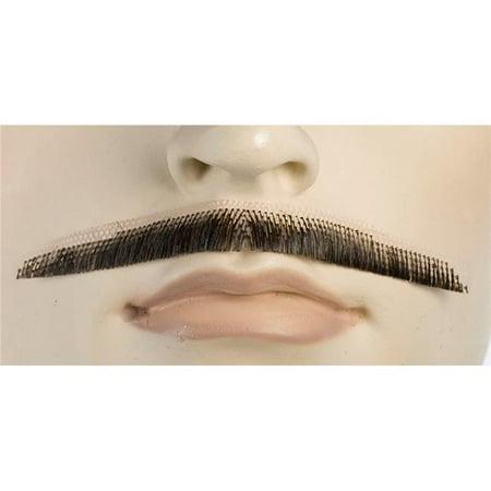 Lacey Wigs LW414MBNGY Errol Flyn Human Hair Mustache, Medium Brown Grey 44 - image 1 de 1