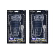 Dynamic Action Figure Stand (Clear with 2 bases ) – Set of 2