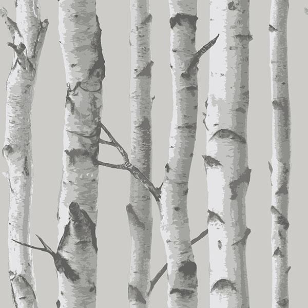 NuWallpaper Mountain Birch Grey Peel & Stick Wallpaper