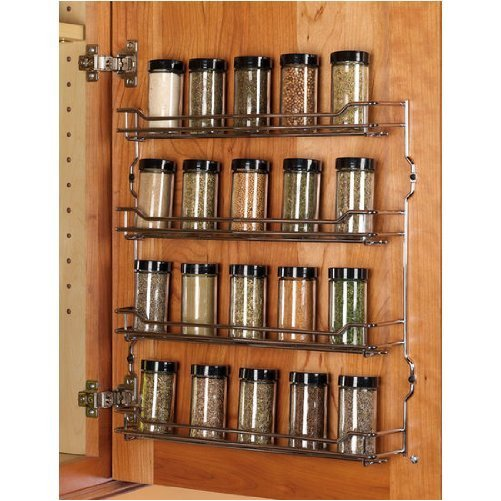 spice organizers for kitchen cabinets hafele 391mm w spice rack 4 shelves chrome walmart 26516