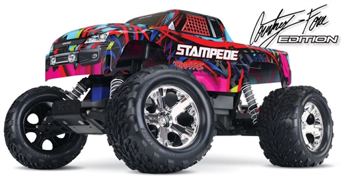 Traxxas 360541T6 1:10 Stampede Monster Truck RTR; Courtney Force Edition by TRAXXAS
