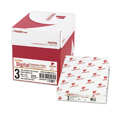 Fast Pack Digital Carbonless Paper, 8-1/2 x 11, White/Canary/Pink, 2500/Carton, Sold as 1 Carton, 5 Ream per Carton