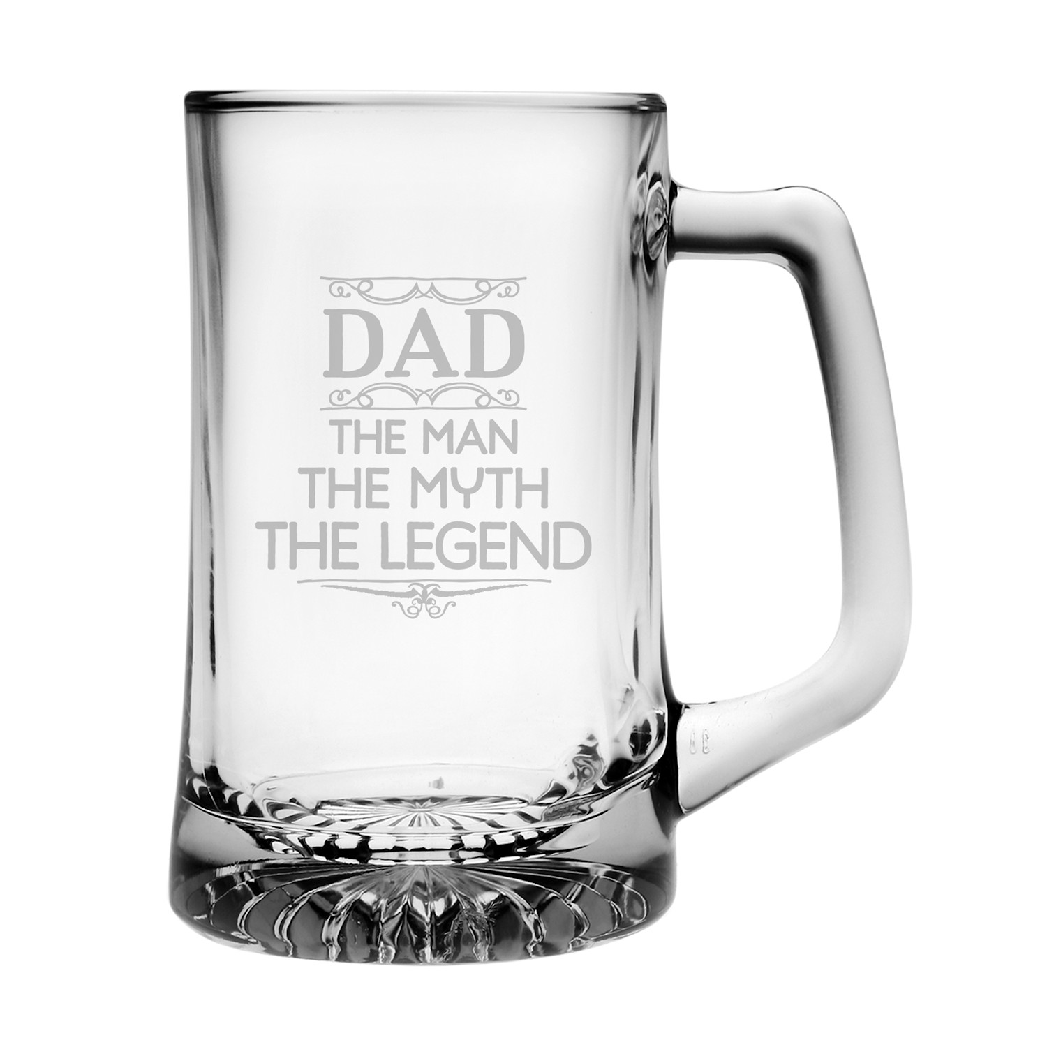 """""""Dad: The Man, The Myth, The Legend"""" Beer Mug by"""