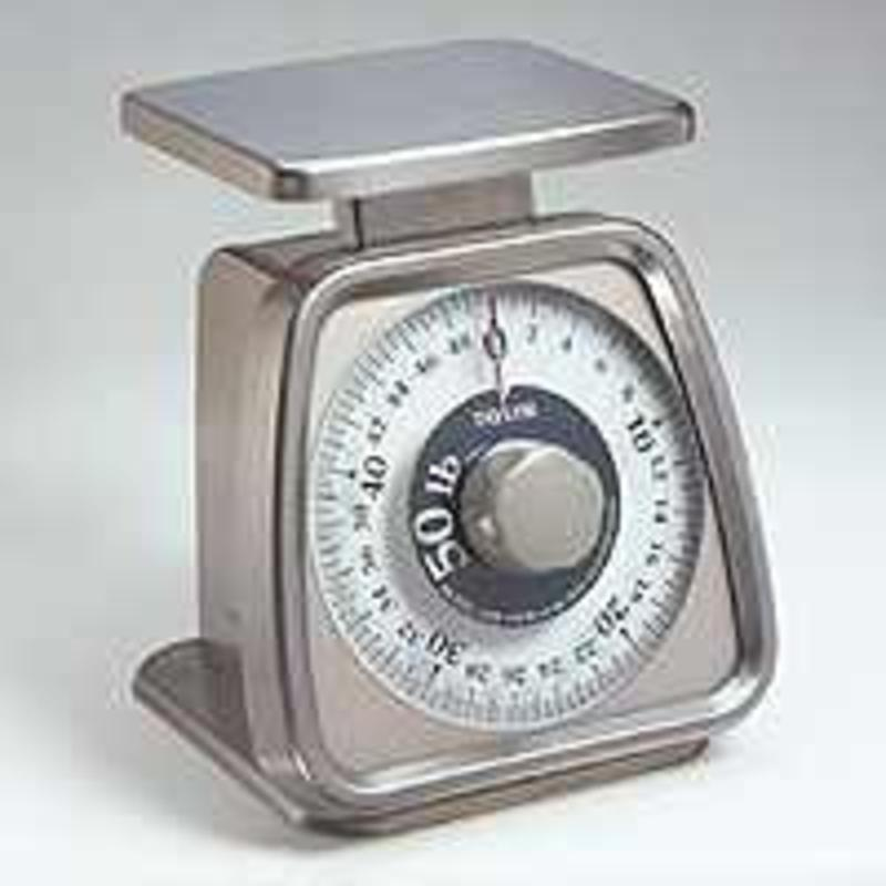 Taylor TS50 Heavy Duty Mechanical Portion Control Scale, 50 lb, +/-1% + 1 Division, Rotating Dial