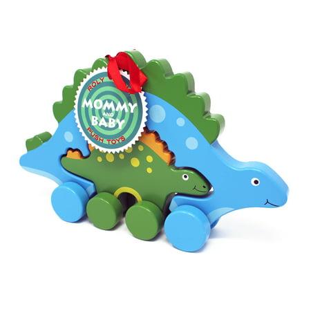 Jack Rabbit Creations Stegosaurus Mommy & Baby Push Pull Toy