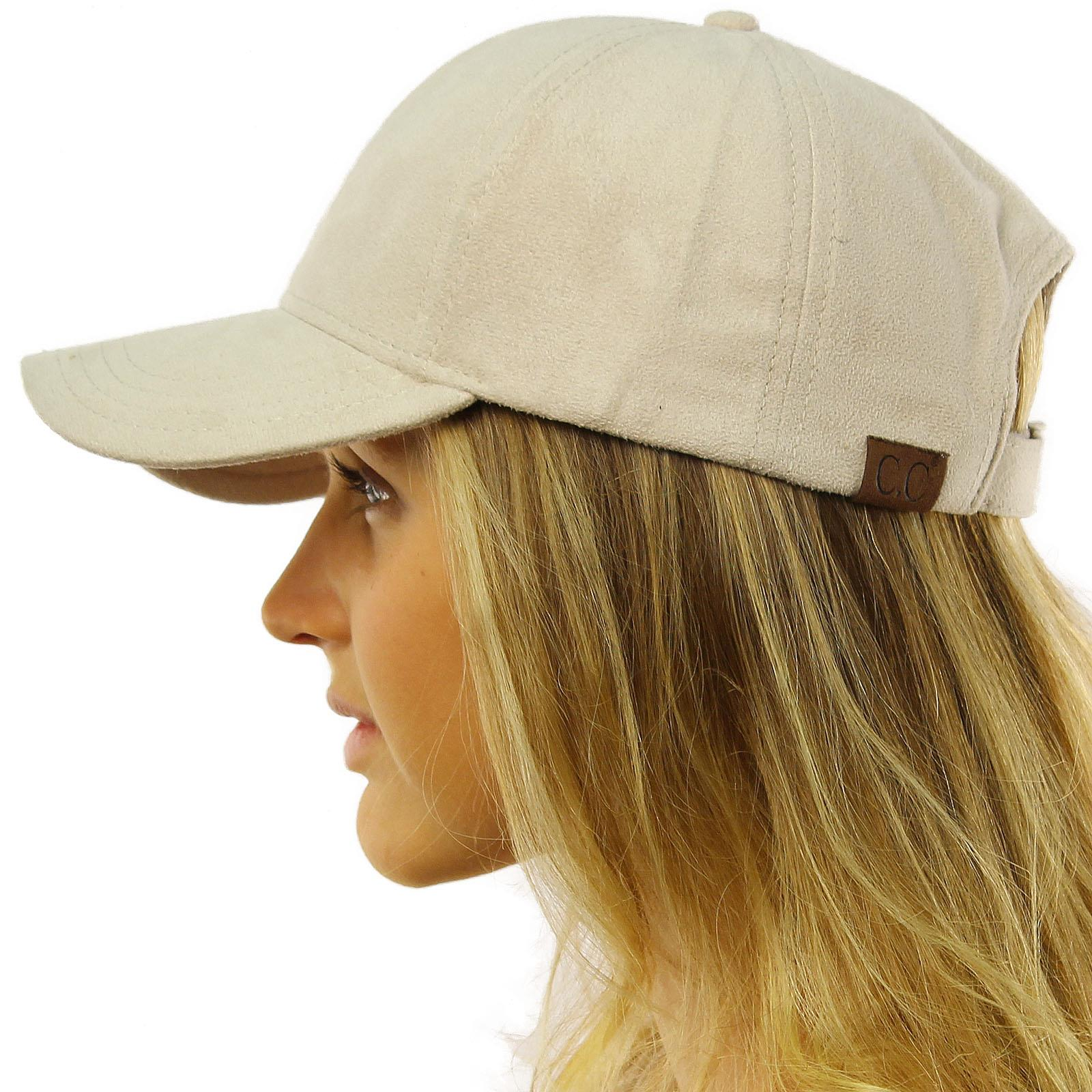 4d9facc0 CC Everyday Faux Suede 6 Panel Solid Suede Baseball Adjustable Cap Hat