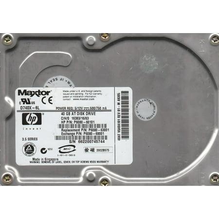 D740X-6L, GTLA VQ40A10101M, Maxtor 40GB IDE 3.5 Hard Drive