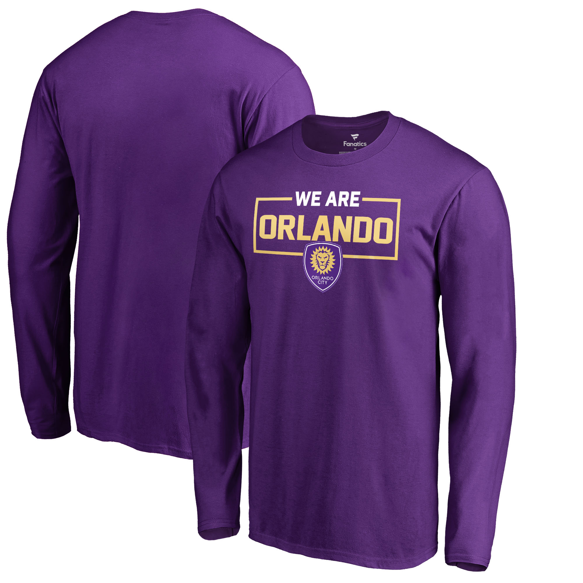 Orlando City SC Fanatics Branded We Are Long Sleeve T-Shirt - Purple