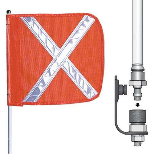 CHECKERS INDUSTRIAL PROD INC FS10X-QD-O Warning Whip, 10 ft., Includes Flag