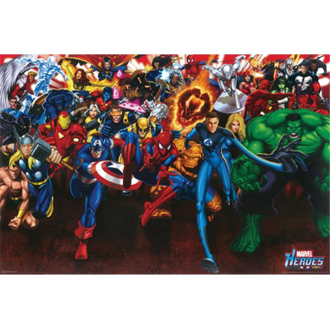 Hot Stuff Enterprise Z005-24x36-NA Marvel Heroes Collage Poster