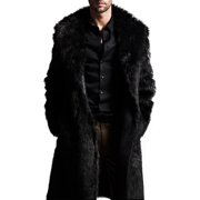 Binmer Mens Warm Plus Thickening Long Coat Jacket Faux Fur Parka Outwear Cardigan