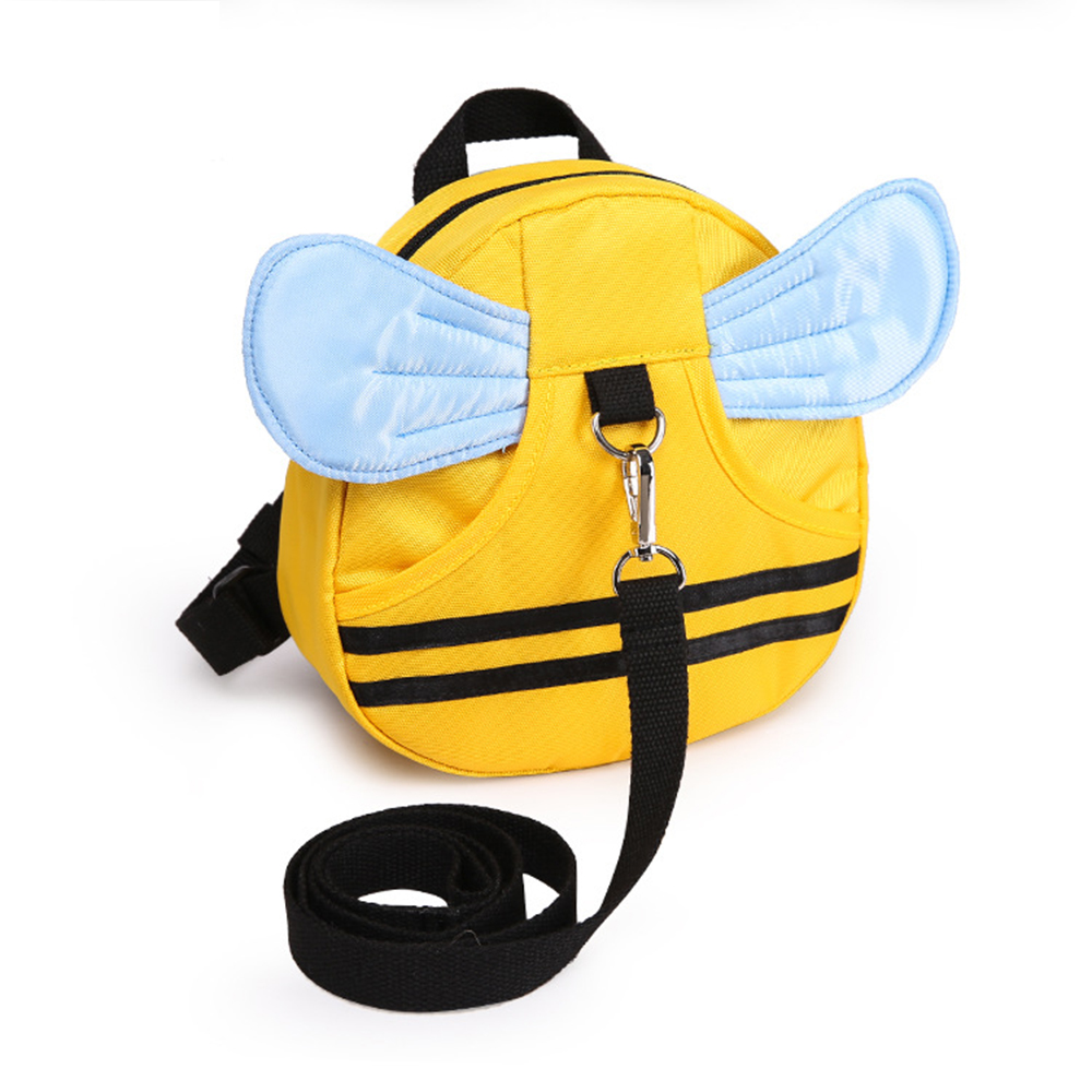 Anti Lost Kids Backpack Cute Bee Design Children Baby Safety Keeper Toddler Walking Satchel Bag Strap Yellow+Light Blue by