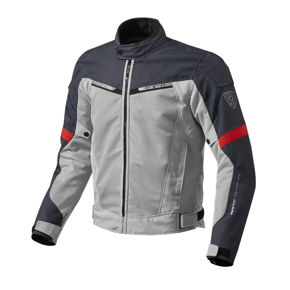 Rev'It Airwave 2 Mens Textile Jacket Silver/Red