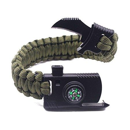 RnS STAR Military Outdoor Paracord Survival Bracelet 500 LB  Airsoft