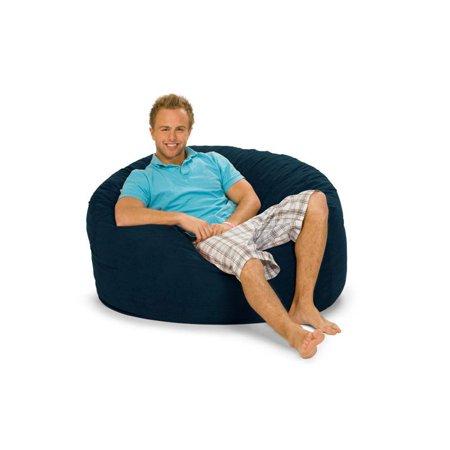 Sensational Relax Sack 4 Ft Microsuede Foam Bean Bag Sofa Dailytribune Chair Design For Home Dailytribuneorg