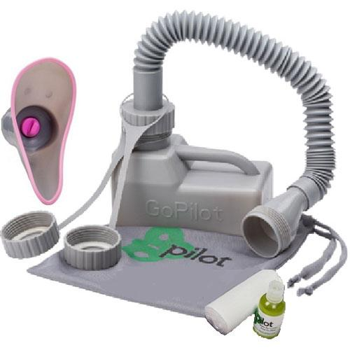 Kolter Enterprises - The GoPilot Portable Handheld Urinal Deluxe Package - Men a
