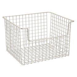InterDesign Classico Open Wire Large Storage Basket, Matte Satin