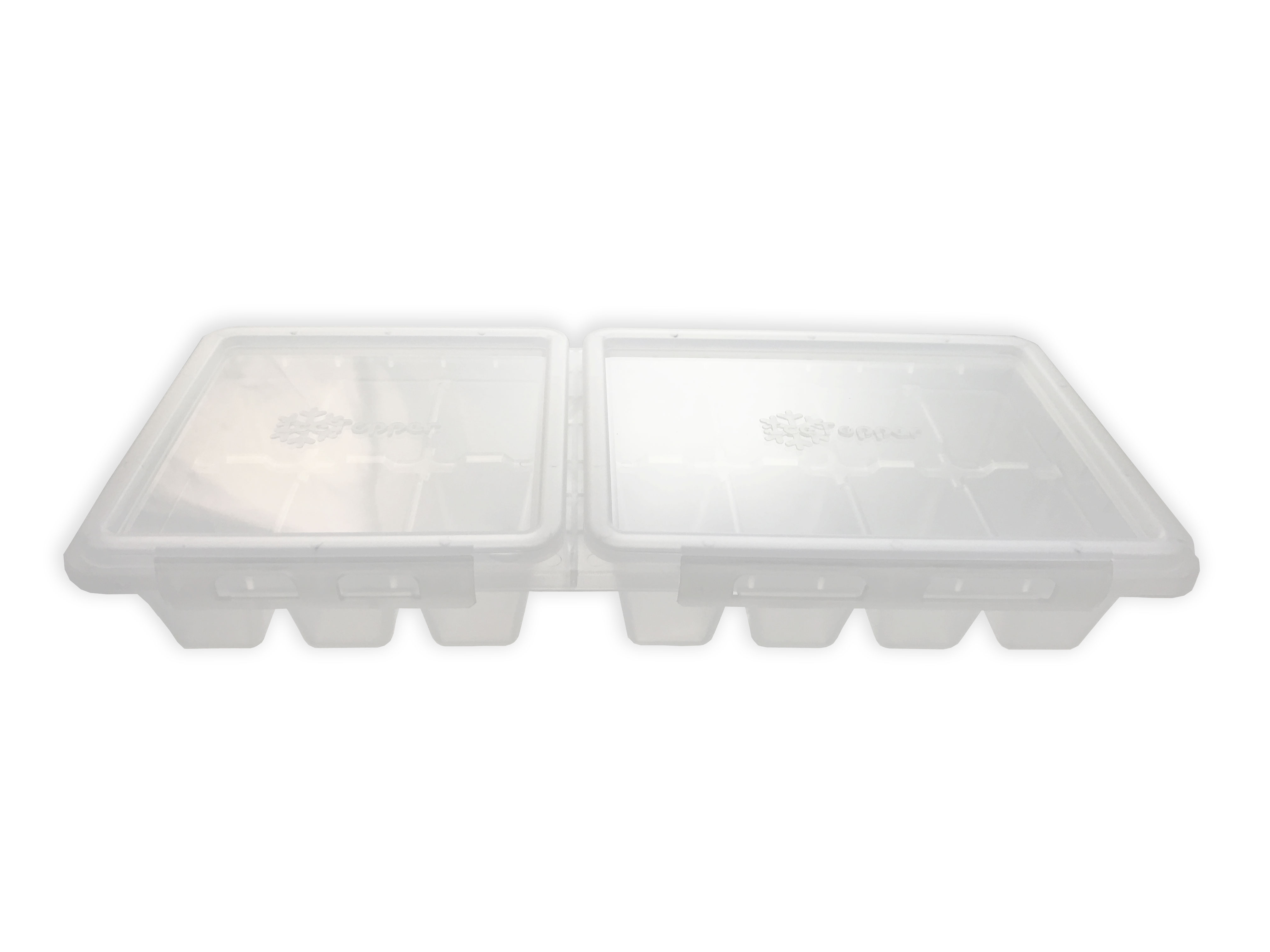 IceTopper Ice Cube Tray with Attached Lids - Walmart.com