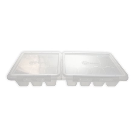 Ice Topper Ice Cube Tray with Attached Lids