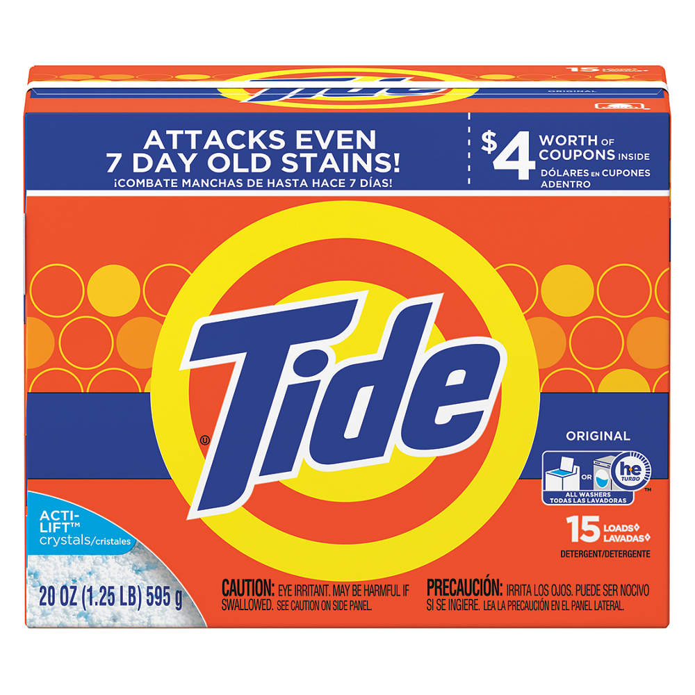 TIDE 20 oz. Powder Laundry Detergent,  15 PK 27782