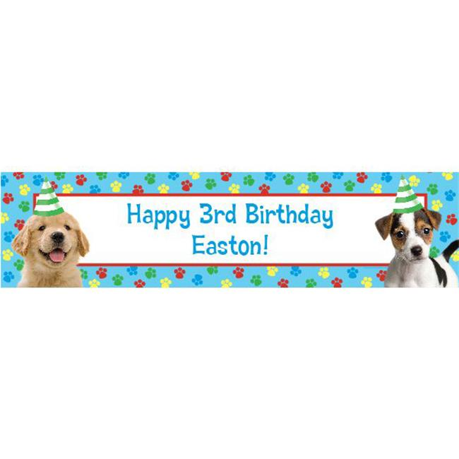 Costume Supercenter BB101847 Dog Party Personalized Banner