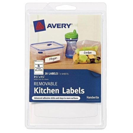 avery removable kitchen labels 41455 green border 3 1 2 x 1 1 4