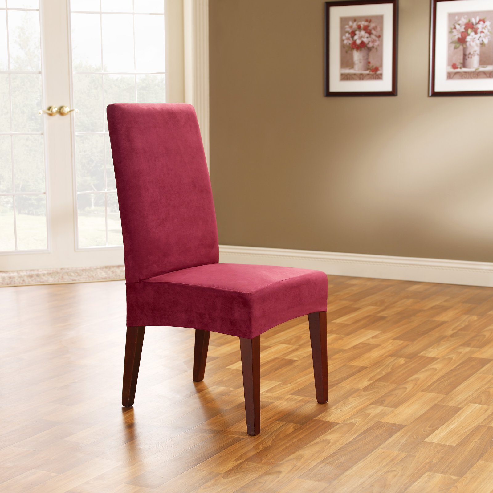 Sure Fit Soft Suede Short Dining Room Chair Covers Part 76