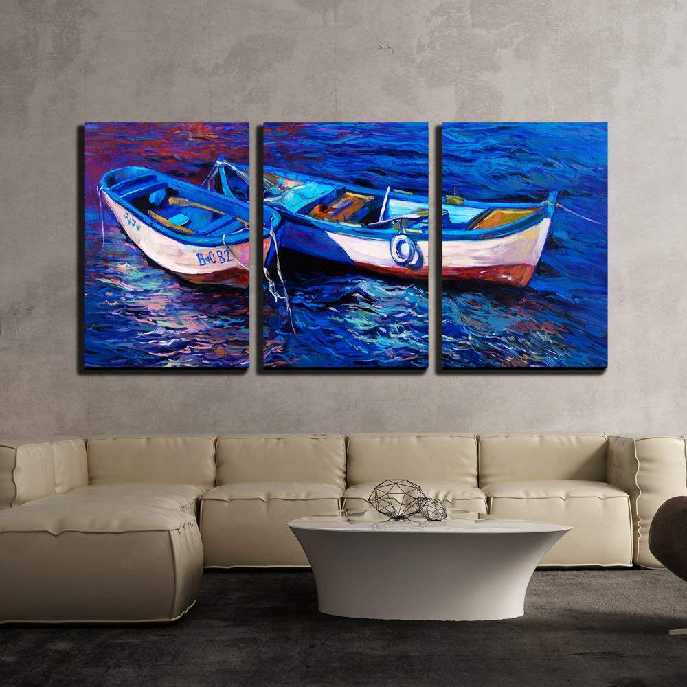 Home Artwork Decor Ocean Sea Ship Boat Oil Painting Picture Printed On Canvas II