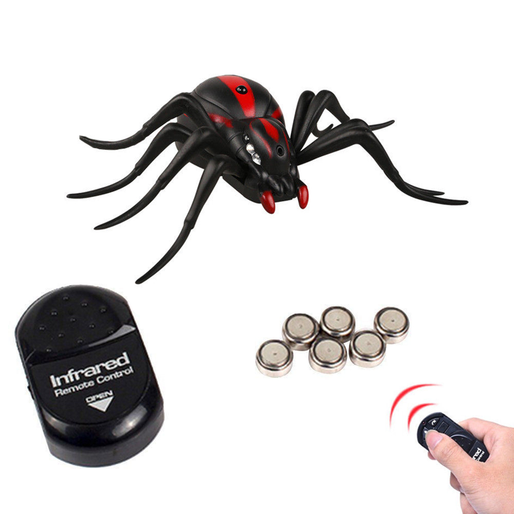 Spencer Remote Control Spider Animal Toy Infrared RC Prank Insects Joke Scary Trick Bugs for Party