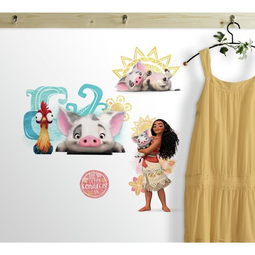 Disney Moana And Friends Peel And Stick Wall Decals