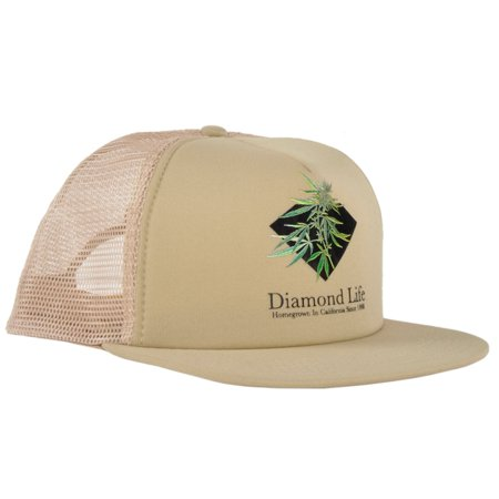 Diamond Supply Co. Diamond Life Homegrown Trucker Hat Khaki Adjustable Headwear ()
